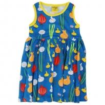DUNS Adult Blue Garlic, Chives & Onion Sleeveless Gathered Dress