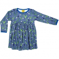 DUNS Adult Blue Snowdrop LS Gathered Dress