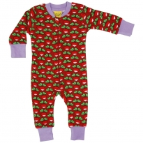 DUNS Dark Red Radish LS Zip Suit