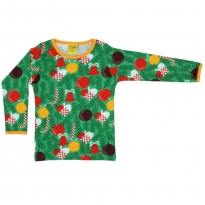 DUNS Adult Green Christmas Tree LS Top