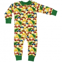 DUNS Green Mushrooms Zip Suit