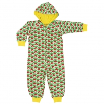 DUNS Green Radish Hooded Suit