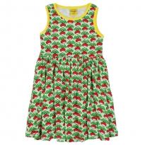 DUNS Adult Green Radish Sleeveless Gathered Dress