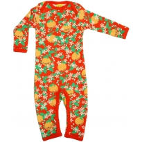 Duns Sweden Long Sleeve Suit - Oranges Red