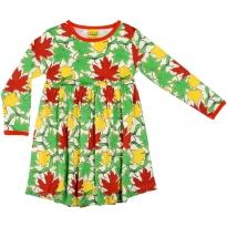 DUNS Maple Leaves Long Sleeve Dress