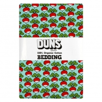 DUNS Minty Turquoise Radish Single Bedding Set