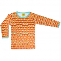 DUNS Adult Orange Sailing Boats LS Top