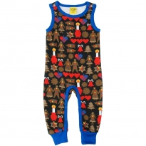 DUNS Black Gingerbread Dungarees