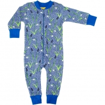 DUNS Blue Snowdrop Zip Suit