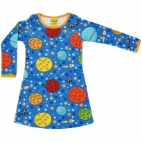 DUNS Blue Lost In Space LS Basic Dress