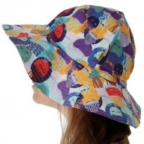 DUNS Jellyfish Teal & Purple Sun Hat