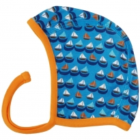 DUNS Blue Sailing Boats Baby Bonnet