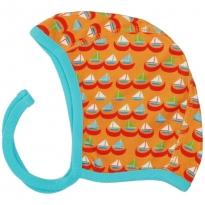 DUNS Orange Sailing Boats Baby Bonnet