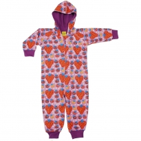 DUNS Purple Strawberry Field Lined Hooded Suit
