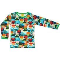 DUNS Jellyfish Blue & Green LS Top