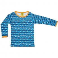 DUNS Adult Blue Sailing Boats LS Top