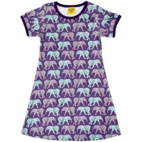 DUNS Elephant Walk Purple SS Dress