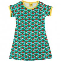 DUNS Radish Turquoise SS Dress