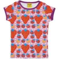 DUNS Adult Purple Strawberry Field SS Top