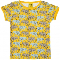 DUNS Elephant Walk Yellow SS Top