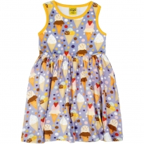 DUNS Ice Cream Lavender Sleeveless Gathered Dress