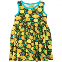 DUNS Adult Lemon Sleeveless Gathered Dress