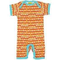 DUNS Orange Sailing Boats Summer Dungarees