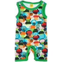 DUNS Jellyfish Blue & Green Summer Dungarees