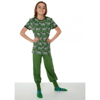 DUNS Swamp Green Baggy Pants