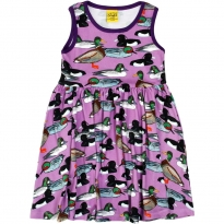 DUNS Violet Duck Pond Sleeveless Gathered Dress