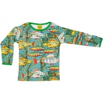 DUNS Adult Teal Sea Weed LS Top