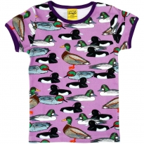 DUNS Adult Violet Duck Pond SS Top