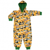 DUNS Mustard Duck Pond Lined Hooded Suit