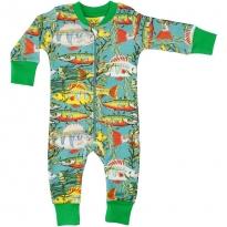 DUNS Teal Sea Weed LS Zip Suit