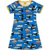 DUNS Adult Blue Duck Pond A-Line SS Dress