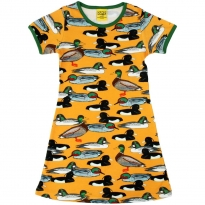 DUNS Adult Mustard Duck Pond A-Line SS Dress