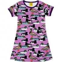 DUNS Adult Violet Duck Pond A-Line SS Dress