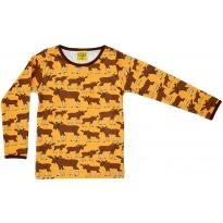 DUNS Adult Mustard Moose LS Top