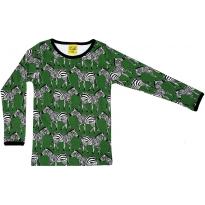 DUNS Adult Swamp Green Zebra LS Top