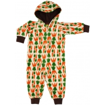 DUNS Carrot Velour Lined Hooded Suit