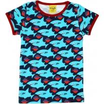 DUNS Dark Blue Sharky SS Top