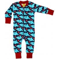 DUNS Dark Blue Sharky Zip Suit