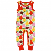 DUNS Fruit Dungarees With Red Trim