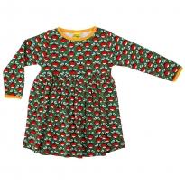 DUNS Adult Green Radish LS Gathered Dress