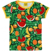 DUNS Adult Green Tropical Punch SS Top