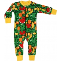 DUNS Green Tropical Punch Zip Suit