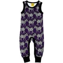 DUNS Purple Zebra Dungarees