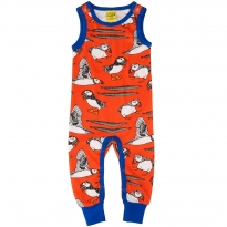 DUNS Red Puffin Dungarees