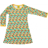 DUNS White Small Acorns LS Dress