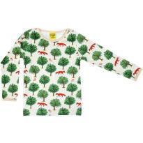 DUNS Adult Tan Fox & Tree LS Top